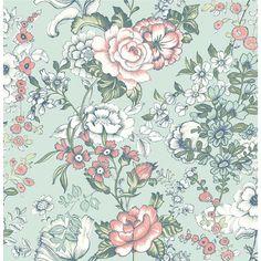 "Kismet Ainsley Boho 33' x 20.5"" Floral and Botanical 3D Embossed Wallpaper…"