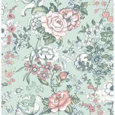 "Kismet Ainsley Boho 33' x 20.5"" Floral and Botanical 3D Embossed Wallpaper…"
