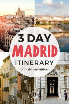 Planning to travel to Madrid, Spain? This 3 day Madrid itinerary will guide you through the best things to do in Spain's capital. From food to architecture, you'll discover the bucketlist activities to add to your Madrid itinerary Europe Destinations, Europe Travel Tips, European Travel, Travel Guides, Travel Pics, Travel Advice, Holiday Destinations, Asia Travel, Ireland Travel