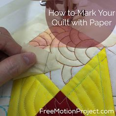 The Free Motion Quilting Project: Quilt Marking with Paper