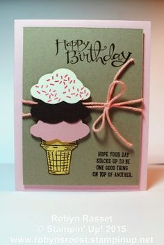 Sprinkles of Life, this is my favorite Ronald McDonald House Charities stamp set EVER! For every one of these purchased, Stampin' Up! donates $3 to RMHC. Order yours at www.robynsroost.stampinup.net