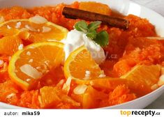 Mrkvový salát s pomerančem a smetanou recept - TopRecepty.cz Thai Red Curry, Menu, Salad, Fit, Ethnic Recipes, Menu Board Design, Shape, Salads, Lettuce