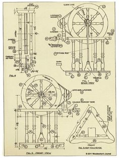 DIY European Spinning Wheel Downloadable Plan - http://www.rockler.com/european-spinning-wheel-plan
