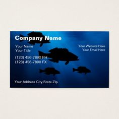 The 154 best fishing business cards images on pinterest business underwater fishing business cards colourmoves