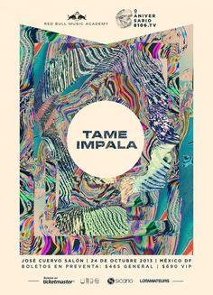 Tame Impala Mexico gig poster :D :D MUY FEEEELIZ POR VERLOS!!!!!