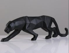 Find More Statues & Sculptures Information about Modern Abstract Black Panther Sculpture Geometric Resin Leopard Statue Wildlife Decor Gift Craft Ornament Accessories Furnishing,High Quality furnish,China resin blanks Suppliers, Cheap resin bodies from Wooden box / crafts Store on Aliexpress.com