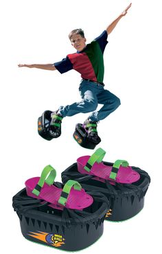 With these Moon Shoes strapped to their feet, kids can jump higher and expend excess energy as they bounce up and down