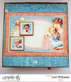 """""""Precious Memories"""" Easel Card with Drawers Graphic 45 Lori Williams [view 3]. via Wendy Schultz ~ Graphic 45 Projects."""