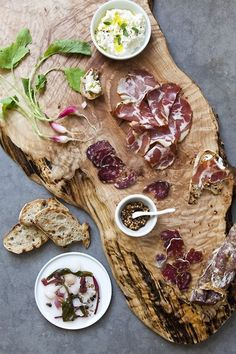 Charcuterie Board with Pickled Ramps Photographer: Nicole Franzen Food Stylist: Lauren LaPenna Charcuterie Cheese, Cheese Platters, Charcuterie Board, Charcuterie Spread, Antipasto, Tapas, Food Styling, Food Porn, Good Food