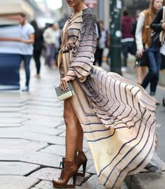 street style dress via elle uk