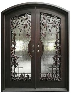 Stock doors in Utah and LA warehouse House Gate Design, Door Gate Design, Front Door Design, Tiny House Design, Entrada Frontal, Casas California, Iron Front Door, Interior Staircase, Wrought Iron Doors