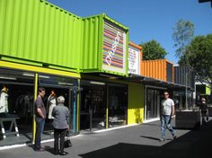 In Christchurch, a shopping district with shipping containers - Lost At E Minor: For creative people
