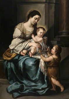 Bartolomé Esteban Murillo, Madonna and Child with Infant, 1645-50