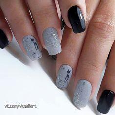 Winter Nails Designs - My Cool Nail Designs Latest Nail Designs, Cool Nail Designs, American Nails, Cat Nails, Instagram Nails, Super Nails, Nagel Gel, Nail Decorations, Beautiful Nail Art