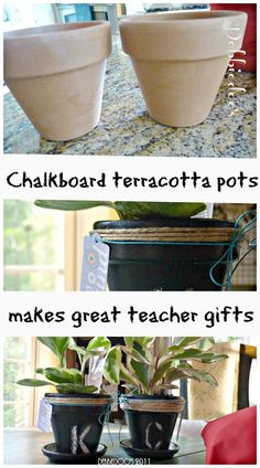 """Make for a perfect end of the year teacher gift. Quote to put on rim """"Thank you for helping me grow!"""""""