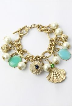 Shell and Pearls Bracelet