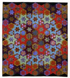 """Circle of Stars quilt, by Kaffe Fassett; from """"Simple Shapes, Spectacular Quilts"""" #pattern"""
