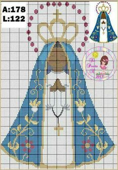 Christmas Embroidery Patterns, Embroidery Art, Cross Stitch Embroidery, Cross Stitch Designs, Cross Stitch Patterns, Crochet Patterns, Religious Cross, Ancient Egyptian Art, Cross Stitch Needles