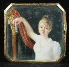 Portrait of Madame Beaumont (enamel on ivory)