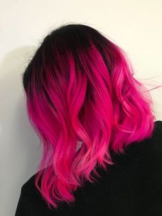 64 ideas for hair pink balayage hairstyles hair dye colors - Hair Color Cute Hair Colors, Bright Hair Colors, Hair Color Pink, Hair Dye Colors, Cool Hair Color, Hot Pink Hair, Dyed Hair Pink, Bright Colored Hair, Coloured Hair