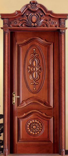 Mahogany Solid Wood Front Entry Door - Double   For the Home ...