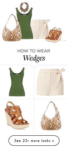"""""""Wedges"""" by ksims-1 on Polyvore featuring Helmut Lang, Michael Kors and Viktoria Hayman"""