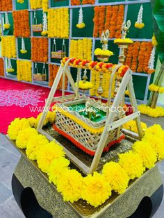 Today's super awesome by Soundarya and Aiswarya Manikonda Branch Did you notice the Housewarming Decorations, Diwali Decorations, Festival Decorations, Flower Decorations, Hall Decorations, Janamashtami Decoration Ideas, Cradle Decoration, Girl Birthday Decorations, Baby Shower Decorations For Boys