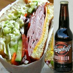 Try our Ham & Cheese Sandwich paired with a bottle of Berghoff Root Beer today 😋 #PleasingPair #BrickMarketDeli #YourNeighborhoodDeli #Pomona #YummySandwiches #HamAndCheese #Sandwich #BerghoffRootBeer #RootBeer @berghoffbrewery #mondaymotivation #motivationmonday #HappyMonday