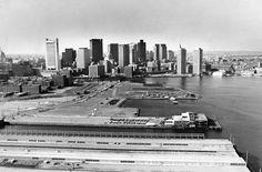 Boston's Piers And Skyline