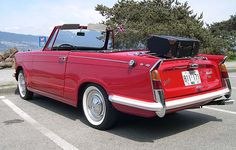 Triumph Herald, my father picked me up at a friends house in a white brand new Herald. 1961