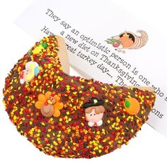 Lady Fortunes Giant Thanksgiving Gourmet Fortune Cookie - $29.99