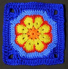 African Flower Square (Bethel of Bethania) Tags: crochet grannysquares crochetsquares