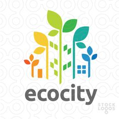 Like the use of negative space to create buildings.  eco city | StockLogos.com
