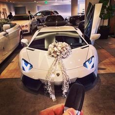 Couldn't decide between the 2014 Rolls Royce Drophead and the Lamborghini Aventador so I bought them both. #Padgram #rollsroyce