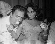 Elizabeth Taylor and husband No. 3: Michael Todd, the Spanish wedding.  Liz and Michael Todd were first wed in an all-Spanish civil ceremony on February 3, 1957, in Spain. She wore this gorgeous off-the-shoulder number. It was the third marriage for both.