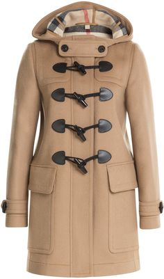 $995, Camel Duffle Coat: Burberry Brit Wool Duffle Coat. Sold by STYLEBOP.com. Click for more info: https://lookastic.com/women/shop_items/324610/redirect