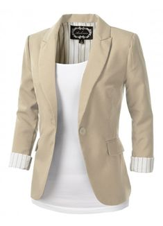 Womens Khaki Tailored Blazer love this too bad they're out of stock. :( - Work Dresses - Ideas of Work Dresses - Womens Khaki Tailored Blazer love this too bad they're out of stock. Khaki Blazer, Look Blazer, Casual Blazer, Tan Blazer Outfits, Hijab Casual, Fall Outfits, Fashion Outfits, Womens Fashion, Blazer Fashion