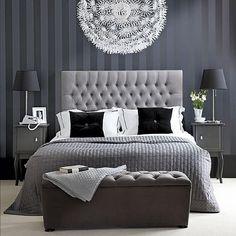 Elegant gray bedroom.