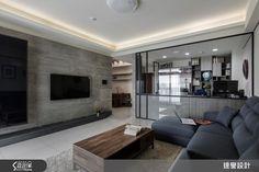 25坪現代家屋 實現夢想中的烏托邦 Modern Industrial Decor, Modern Decor, Flat Screen, Living Room, Interior, Ideas, Home, Lounges, Blood Plasma