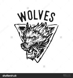 Vector Logo Of The Wolf With Font - 447728827 : Shutterstock
