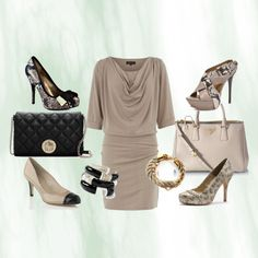 Taupe and Black, created by ssandercox on Polyvore