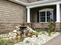 exterior homes with river rock accents | stacked stone earth random ...