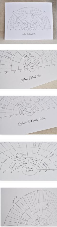 CUSTOMIZED Family Tree Illustration, Fan Family Tree Chart. Generational Chart, Vintage Family Tree, Geneology Chart. $45.00, via Etsy.