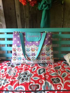 HOOT OWL and Lavender Turquoise GIRLY Diaper by MamaShowedMeHow