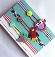 Pick ANY 2 Bookmarks Elastic Ribbon Elastic Bookmark Planner Accessories Kids Bookmark Place Holder Text Book Planner Felt Crafts, Fabric Crafts, Sewing Crafts, Sewing Projects, Craft Projects, Paper Crafts, Diy Crafts, Crafts With Ribbon, Yarn Crafts