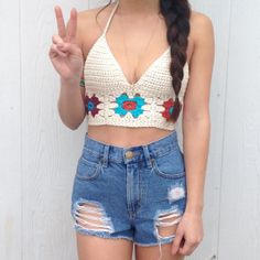 Freedom Festival Crop  Crochet Crop Top  by LostCulture on Etsy, $52.00