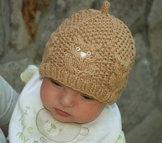 Owl Tuque, go-to pattern for baby showers