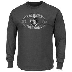 Oakland Raiders Majestic A Life Above Long Sleeve T-Shirt - Charcoal ef5b77bd6