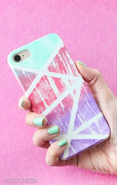 DIY Gradient Painted Cell Phone Case with Americana Multi-Surface