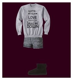 """""""Netflix and Chill Kinda Night"""" by chloe-h-12 ❤ liked on Polyvore featuring NIKE and UGG Australia"""
